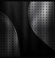 metal background with black design element vector image vector image