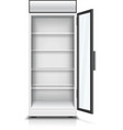 Modern vertical refrigerator opened front panel vector image vector image