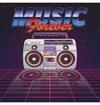 Music Forever Poster vector image vector image