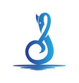 musical notes shape swan logo vector image