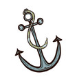 nautical ship anchor isolated vector image