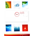 new year and christmas poststamps vector image vector image