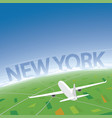 new york flight destination vector image vector image