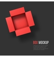 Open box mockup template Top view