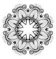 Ornamental round lace pattern is like mandala vector image vector image