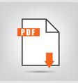 pdf icon isolated vetor vector image vector image