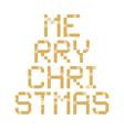 pixel art merry christmas tree block typography vector image vector image