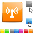 Radio glossy button vector image vector image