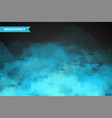 realistic colorful smoke clouds mist effect fog vector image vector image
