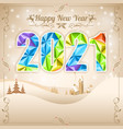 retro christmas and new year frame vector image vector image
