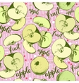 Seamless apples backgrond vector image vector image
