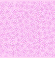 seamless pattern with cartoon pink flowers vector image