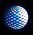 set abstract halftone 3d spheres 30 vector image