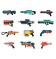 set futuristic weapons vector image vector image