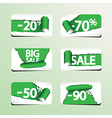 Set of Paper Stickers for Stock Sales vector image