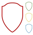 Shield sign Set of line icons vector image
