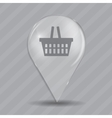 Shopping Glossy Icon vector image