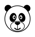 simple cartoon a cute panda vector image vector image