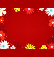 spring background with color flowers vector image vector image