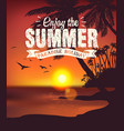 summer sunset card vector image