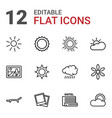 sunset icons vector image vector image