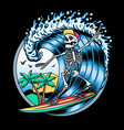 surfing t-shirt designs logo vector image