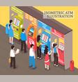 vending machines atm isometric vector image