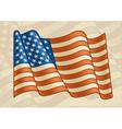 Vintage American Flag vector image vector image
