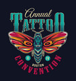 vintage flash tattoo colorful emblem vector image