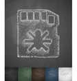 virus code icon Hand drawn vector image vector image