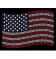 waving united states flag stylization of key vector image vector image