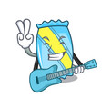 with guitar candy mascot cartoon style vector image
