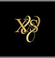 xs x s logo initial mark vector image vector image