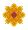 yellow flower icon vector image vector image