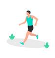 young man jogging marathon racer running athlete vector image