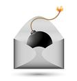 bomb in envelope vector image