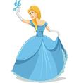 Beautiful Princess with Magic Bird vector image