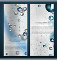 silver particles banners vector image