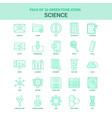 25 green science icon set vector image