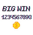8 bit big win vector image