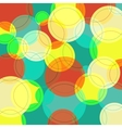 Abstract background with many colorful circles vector image vector image