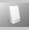 acrylic holder table display with blank cards vector image