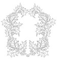 adult coloring bookpage two christmas brunches vector image