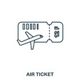 airplane ticket icon outline thin line style from vector image