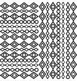 Black and white geometrical background vector image vector image