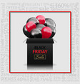 Black friday advertising poster with gift box and