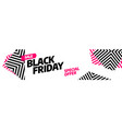 black friday sale banner template design vector image vector image