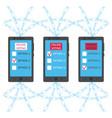 blockchain online voting concept vector image vector image
