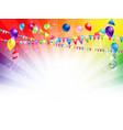 bright holiday balloons vector image vector image