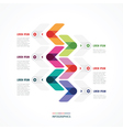 bright line from six arrows vector image vector image